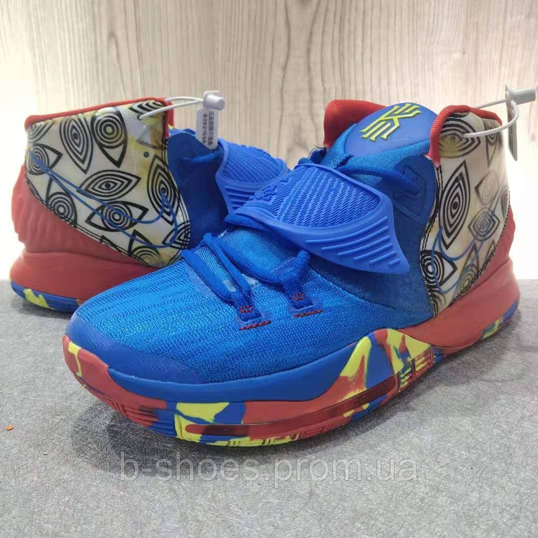 Мужские Баскетбольные кроссовки Nike Kyrie 6(Blue/red)