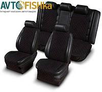 Накидки на сиденья (2перед+зад) из АЛЬКАНТАРЫ (искусственной замши)