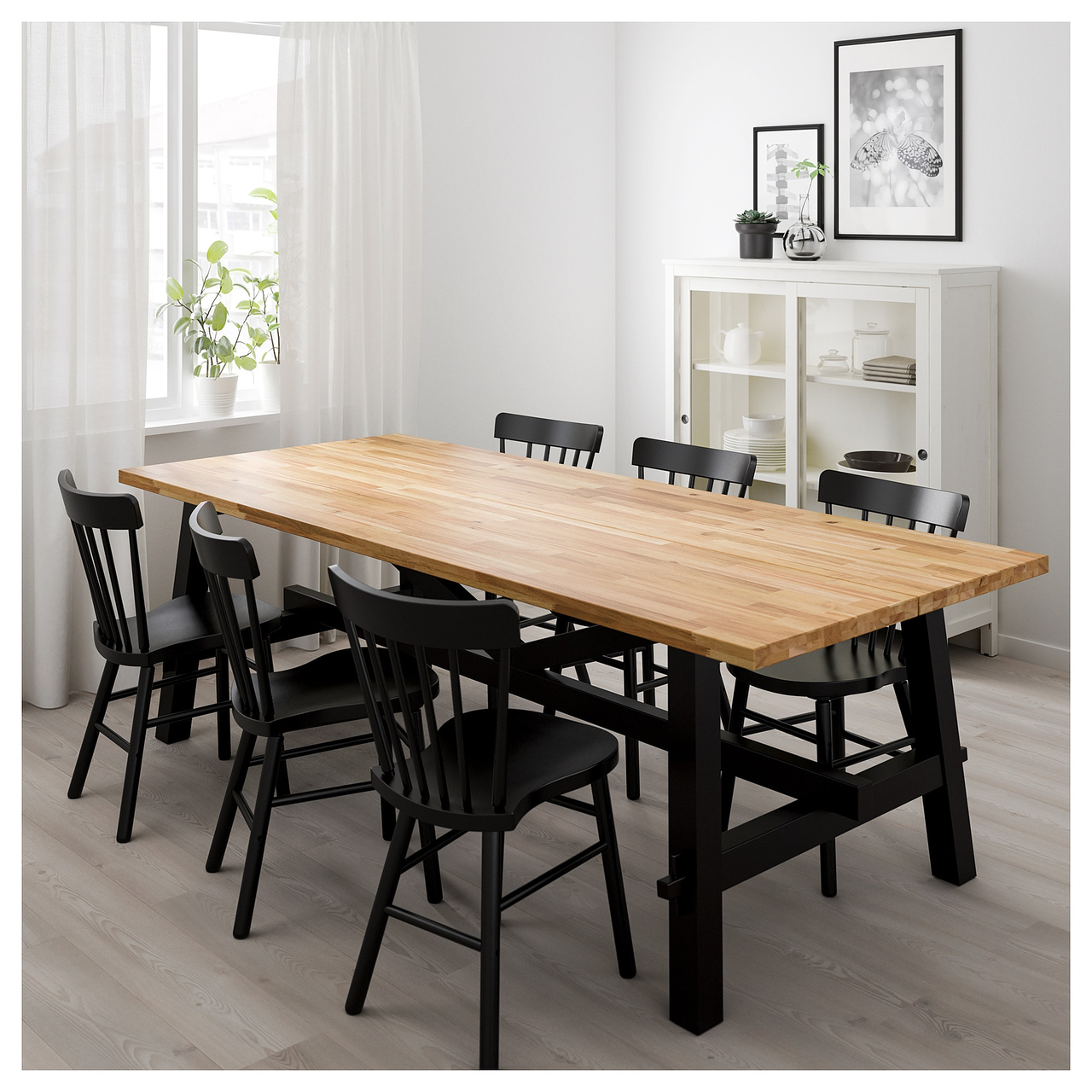 Стол и 6 стульев SKOGSTA / NORRARYD