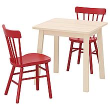 Cтол и 2 стула NORRAKER / NORRARYD
