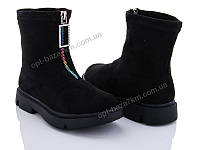 Ботинки детские Эльффей A19-95 black (31-36) - купить оптом на 7км в одессе