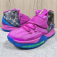 Мужские Баскетбольные кроссовки Nike Kyrie 6(Pink/blue), фото 1