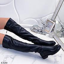 Черные высокие сапоги, фото 2