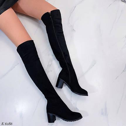 Женские осенние сапоги на каблуке, фото 2