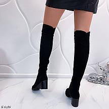 Женские осенние сапоги на каблуке, фото 3