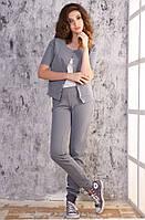 Женский серый спортивный костюм