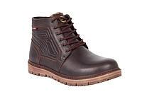 Кожаные мужские зимние ботинки 91