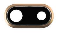 Стекло камеры для Apple iPhone 8 Plus в рамке (Золотое)