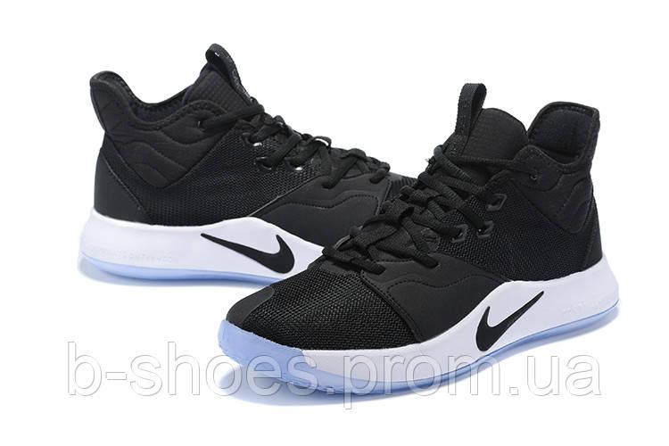 Мужские Баскетбольные кроссовки Nike PG 3(Black/white)