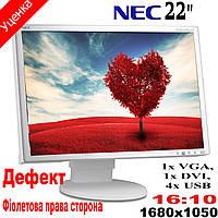 """Монитор 22"""" Nec MultiSync  EA 221WMe1680x1050(к.3876-2)"""