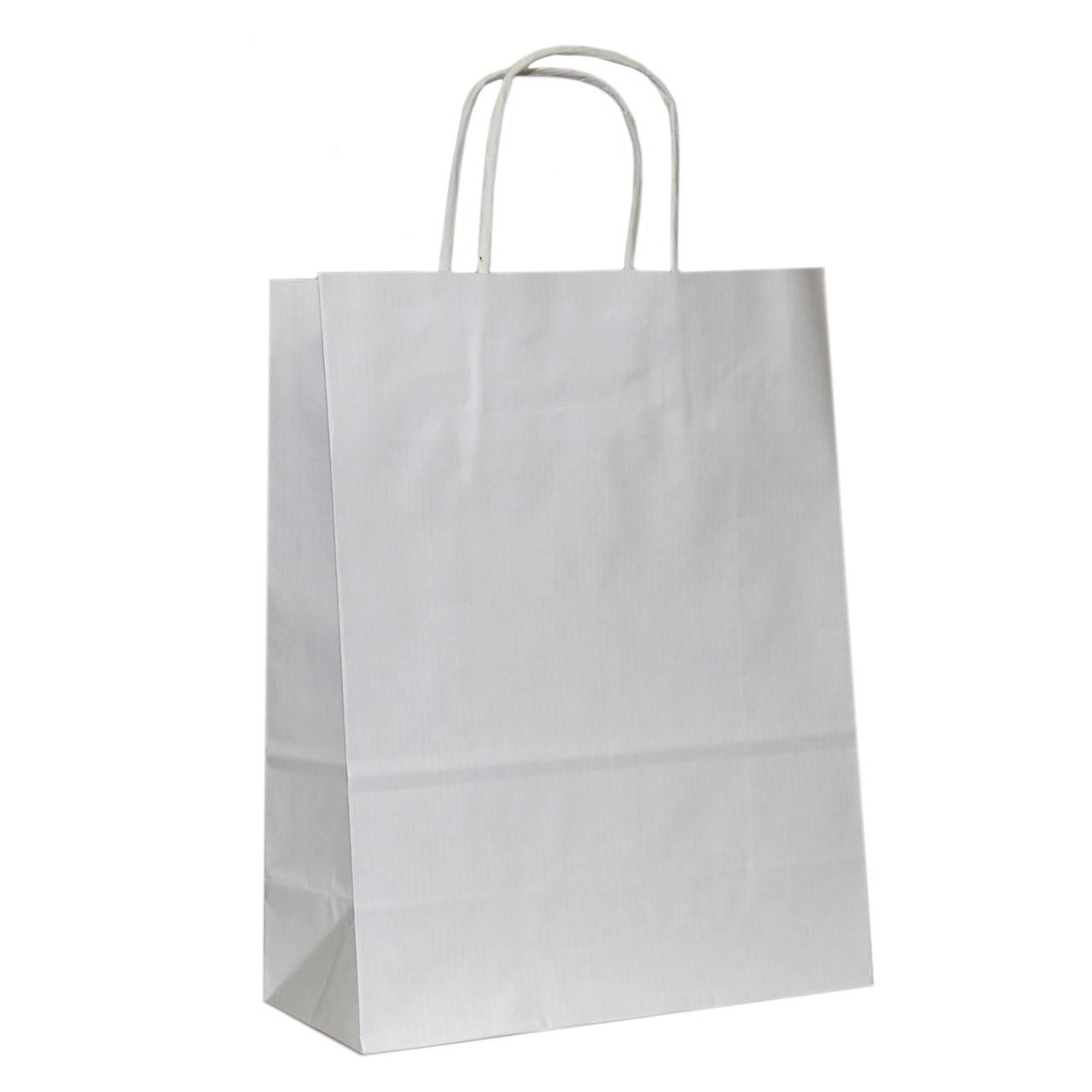 Бумажные пакеты белый крафт 230х110х290