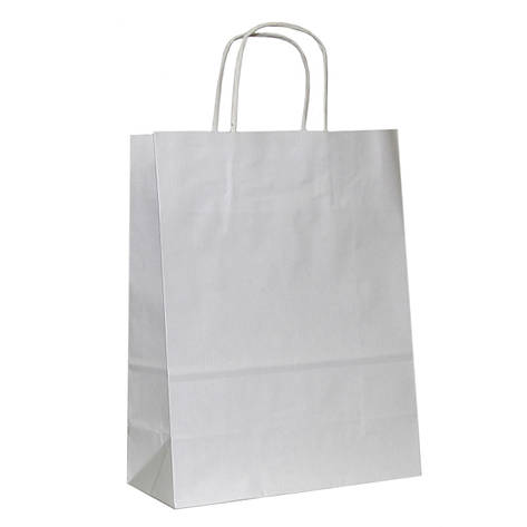Бумажные пакеты белый крафт 230х110х290, фото 2