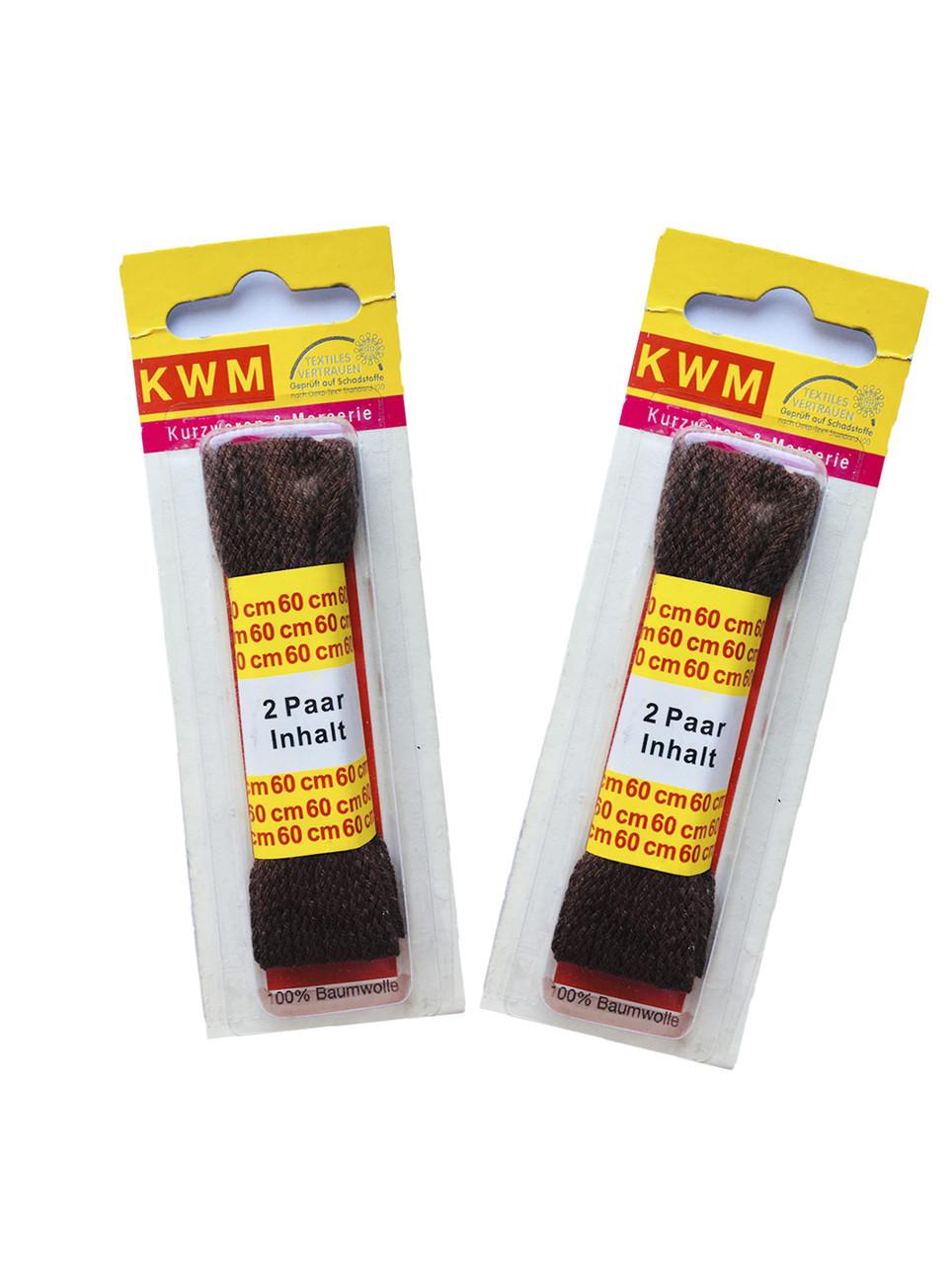 Шнурки коричневые 60 см KWM