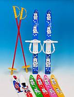 Лыжи детские пласт. 70 см комплект (лыжи,палки,крепления)