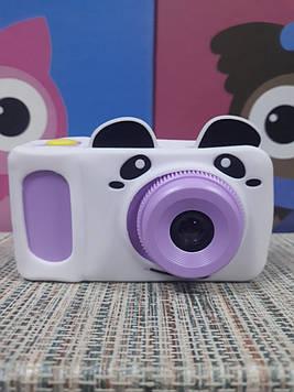 Цифровой фотоаппарат для детей digital camera сиреневый в чехле