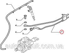 Топливная трубка на Фиат Дукато 2.3JTD 2006-2014 Iveco (Оригинал) 504110763