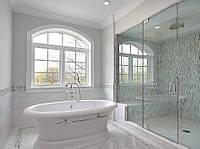 Перегородка из стекла  в ванную