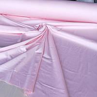 Сатин однотонный светло-розовый ширина 220 см