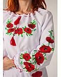 """Женское вышитое платье """"Маки"""" , 40, фото 4"""