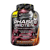 MuscleTech, Phase-8 (2,09 кг), комплексный протеин 7 видов белка