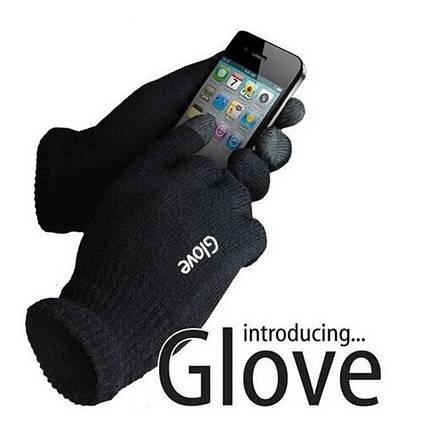 Чёрные сенсорные перчатки IGloves, фото 2
