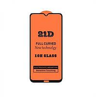 Защитное стекло 21D Full Glue для Xiaomi Redmi Note 8T черное 0,3 мм в упаковке