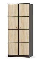 Шкаф 2Д Фантазия МЕБЕЛЬ-СЕРВИС венге темный + дуб самоа (90х56.1х216 см)