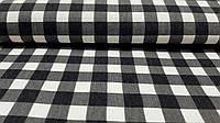 Тефлоновая ткань ДУК принт КЛЕТКА цвет черный