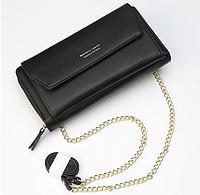 Женский клатч сумочка Baellerry Leather black