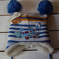 Осенне- зимняя шапочка   для мальчика р 38- 40-42, фото 1
