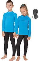 Детский спортивный термокомплект Rough Radical Double с балаклавой, голубой с черным 28 (104-110), фото 1
