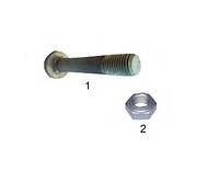 Болт рессорный с гайкой металл BPW 0334015230, 585700040