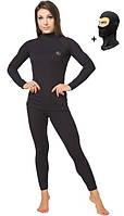 Повседневное женское термобельё Radical Black Iron с балаклавой, чёрный, фото 1