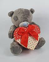 Маленькая игрушка мишка Тедди с коробкой для подарка размер 16 см