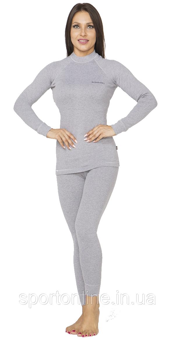 Повседневный женский тёплый термокостюм Radical Cute с балаклавой, светло серый