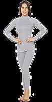Повседневный женский тёплый термокостюм Radical Cute с балаклавой, светло серый, фото 1