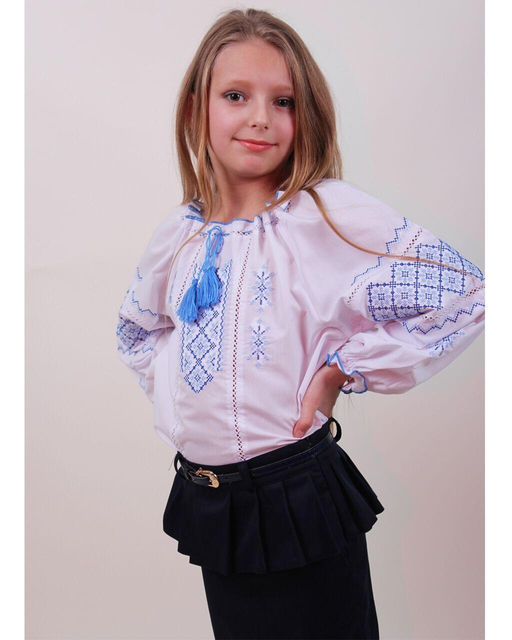 """Детская вышитая блуза """"Марта"""", 104 (рост)"""