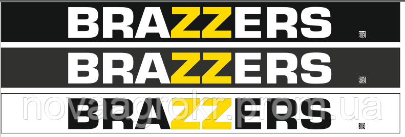 Наклейки на лобовое стекло Brazzers
