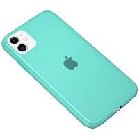 """Силиконовый матовый полупрозрачный чехол для Apple iPhone 11 (6.1"""")"""