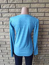 Кофта, футболка с длинным рукавом женская трикотажная высокого качества брендовая ENVYME, Украина(ARBER), фото 2