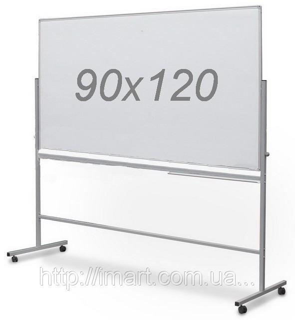Доска оборотно-мобильная 90х120 см комбинированная мел/маркер UkrBoards.