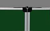 Доска меловая 300x100 см в алюминиевой рамке ABC Office трехсекционная зеленая, фото 3