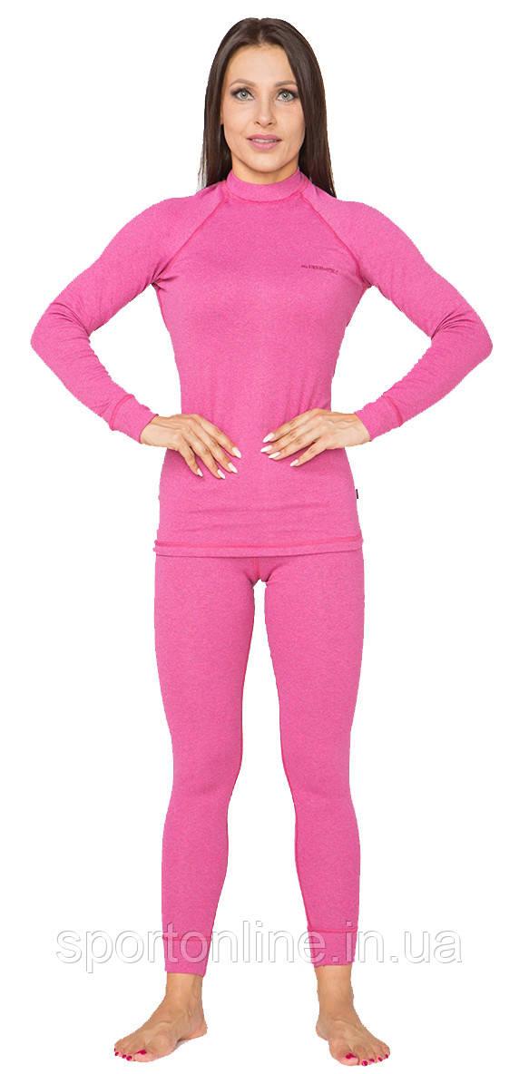 Повседневный женский тёплый термокомплект Radical Cute с балаклавой, розовый