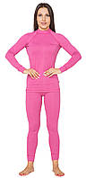 Повседневный женский тёплый термокомплект Radical Cute с балаклавой, розовый, фото 1