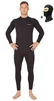 Комплект термобелья мужской теплый Radical Black Iron с балаклавой, черный