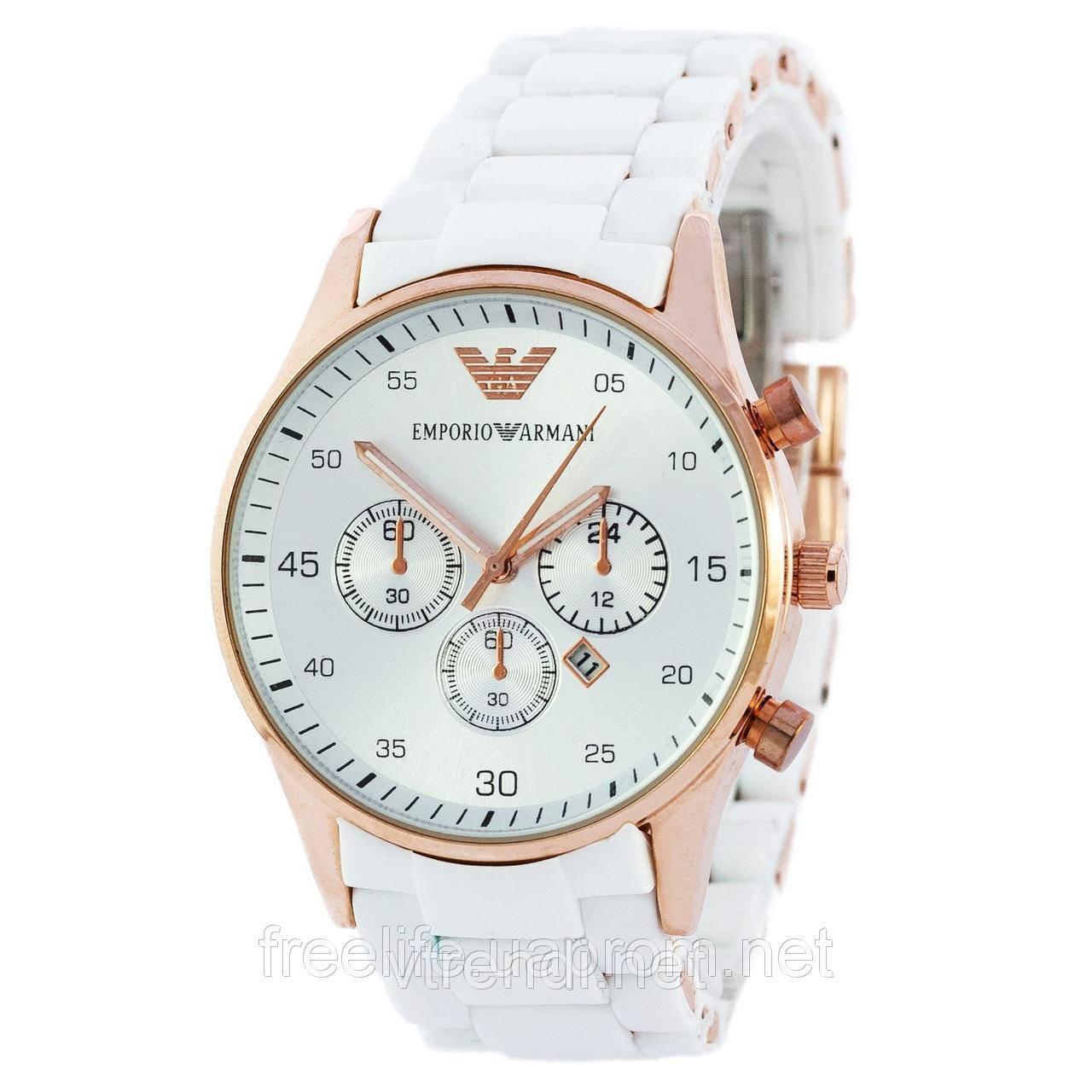 Элитные часы унисекс Emporio Armani белые