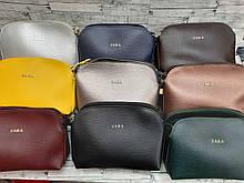 Женская Сумочка  клатч Zara  кож.зам на плечо. Расцветки в ассортименте.