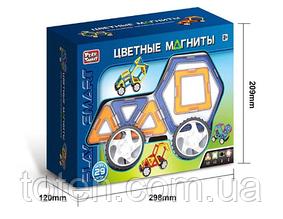 """Конструктор магнитный  Play Smart 2433  """"Цветные магниты"""" 29 дет"""
