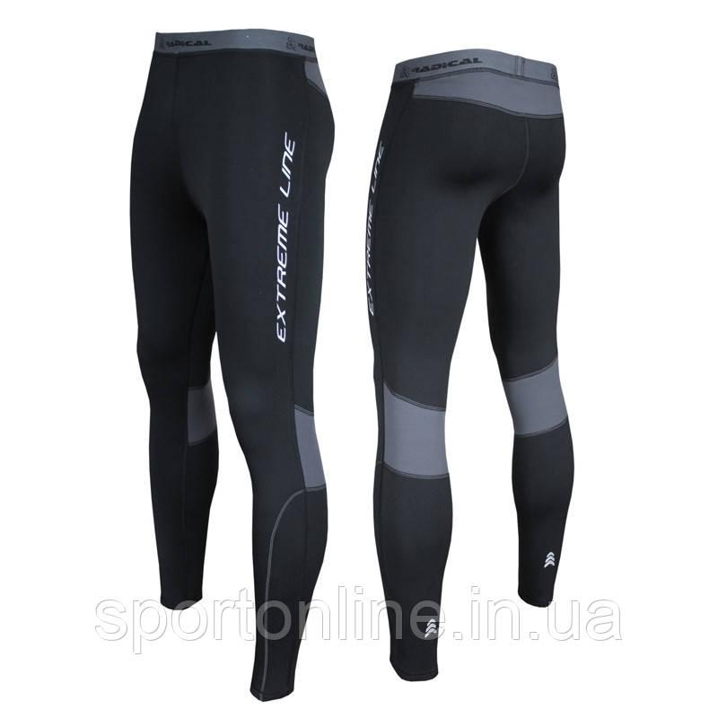 Мужские спортивные термолосины для спорта Rough Radical Thunder, черные с серым