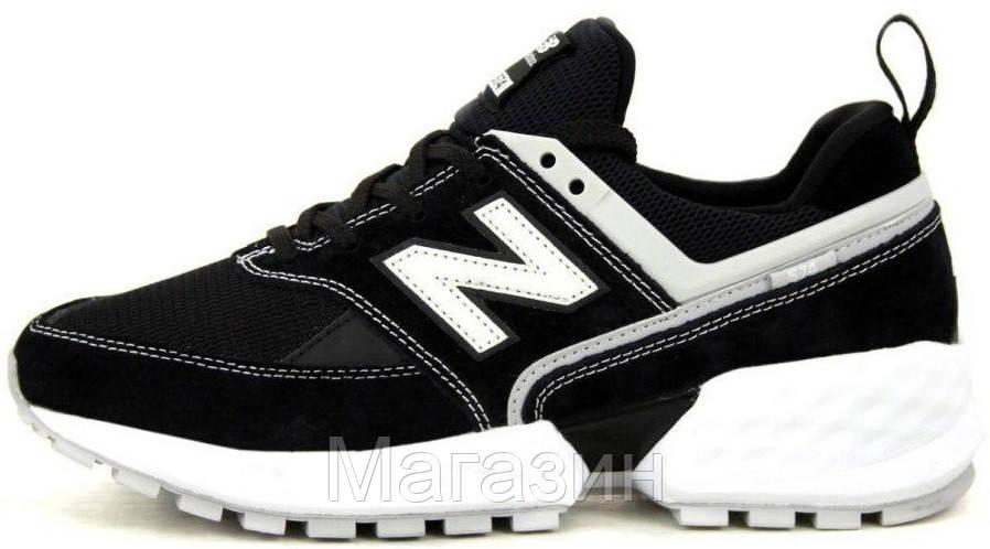 Мужские кроссовки New Balance 574 Sport V2 Black/White (Нью Баланс 574 Спорт) черные